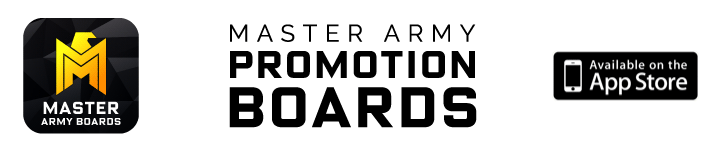 Master Army Promotions Boards - App for iOS