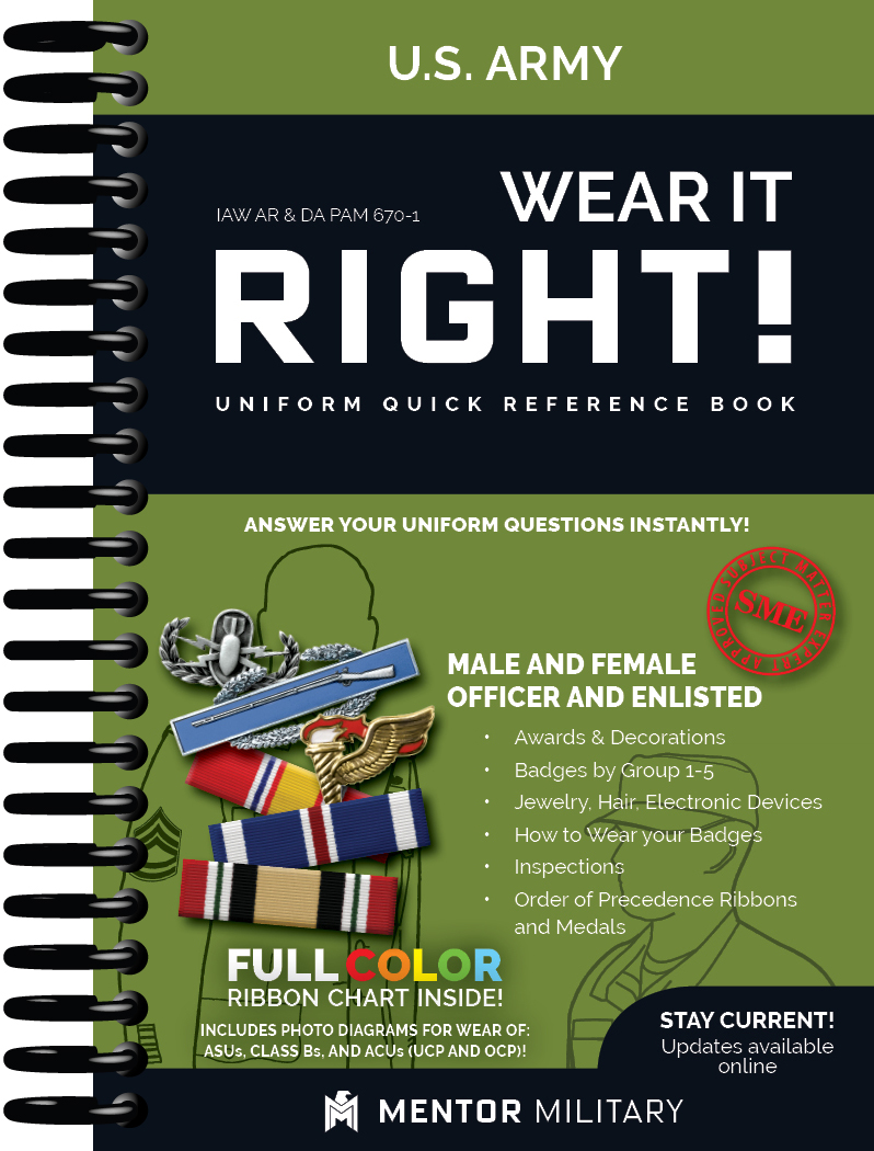 Wear It Right! – U.S. Air Force Uniform Quick Reference Book (WIR)
