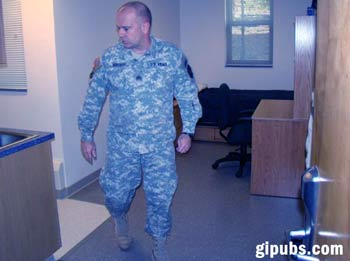 Squad leader performing a barracks inpection