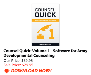 Counsel Quick - Army Counseling Software